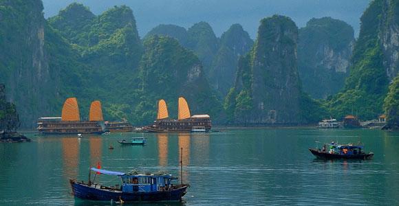 Вьетнам бухта Ха лонг