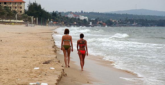 пляж рядом с фантьетом