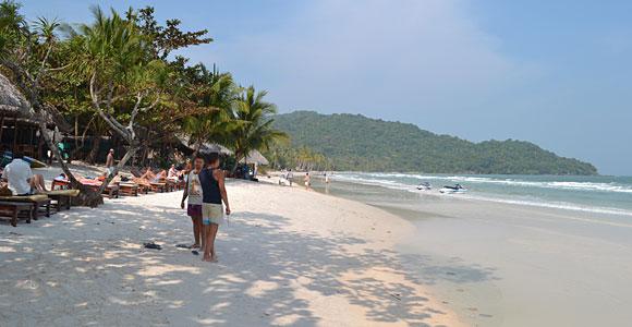 белый песок, пляж бай Сао